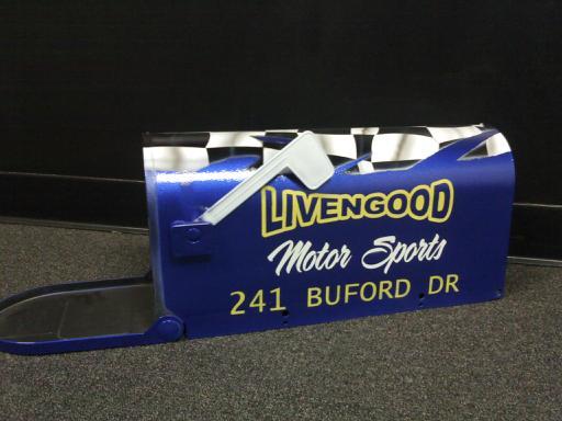Livengood Motor Sports Mailbox