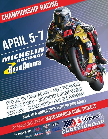 Moto America Race one at Road Atlanta 2019